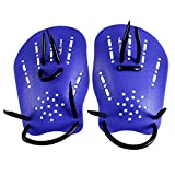 Pair Rubber Swimming Webbed Gloves - yingfa Pair blue Rubber Swimming Hand Paddles Webbed Gloves M