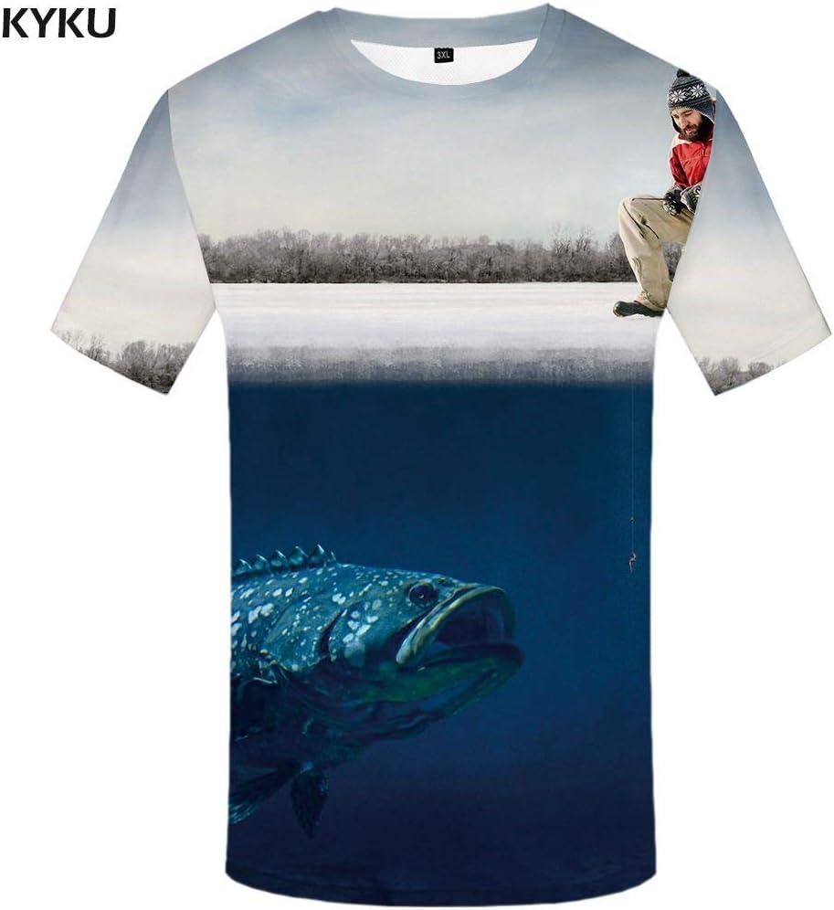 KYKU Camiseta 3D Hombres Camiseta Psicodélica Galaxy Nebula Imprimir Camiseta Medusas Hip Hop Ropa para Hombre Camisetas Divertidas Tops de Verano: Amazon.es: Deportes y aire libre
