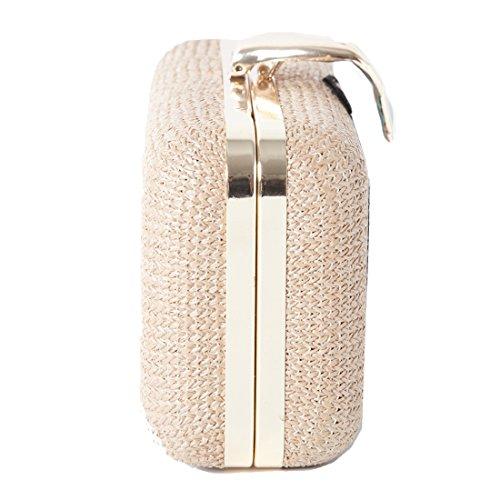 Accessoryo - Pochette Ricamata A Fiori Da Donna Con Chiusura In Oro