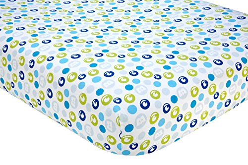 Disney Monsters at Play Crib Sheet, Multi-Colored (Monsters Inc Fitted Crib Sheet compare prices)