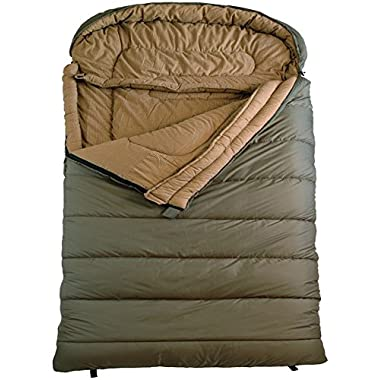 TETON Sports Mammoth 0F Queen Size Sleeping Bag Perfect for Base Camp while Cold Weather Camping, Backpacking, and Hiking, Green