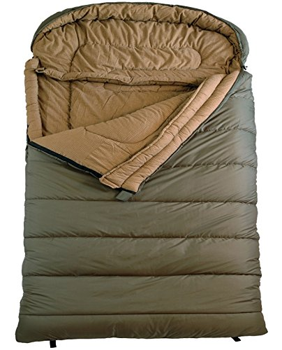 TETON Sports Mammoth 0F Queen Size Sleeping Bag, Green