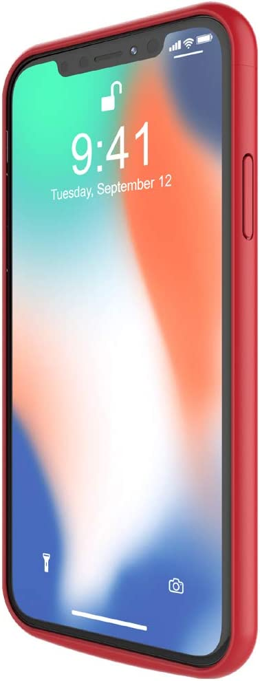 TQTHL Portable External Charging Case for iPhone Xs Max 6.5 inch Battery Case for iPhone Xs Max Rechargeable Charger case battery Pack -Red