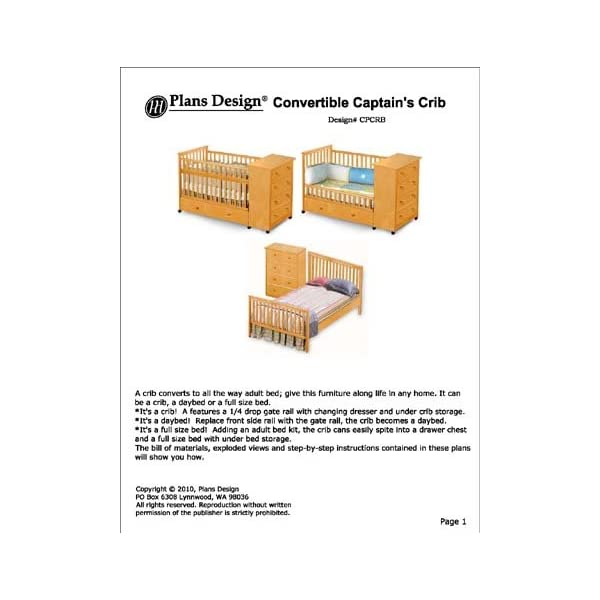 Convertible Captain's Crib, Changing Drasser Plans