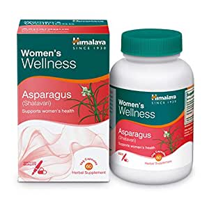 Himalaya Herbals Asparagus (Shatavari), Supports Women's Health, Promotes Healthy Lactation, Herbal Veggie Capsule