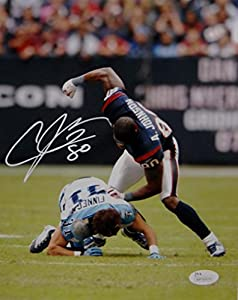 Andre Johnson Signed Houston Texans 8x10 Finnegan Fight Photo- JSA W Auth White