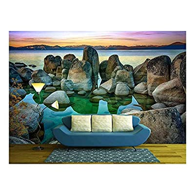 Created By a Professional Artist, Gorgeous Visual, Rocks in a Lake Lake Tahoe Sierra Nevada California USA