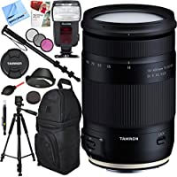 Tamron 18-400mm f/3.5-6.3 Di II VC HLD All-In-One Zoom Lens for Canon Mount with Pro Sling Backpack Plus Accessories Bundle