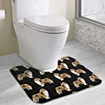 NiYoung Non Slip Contour Bath Mats for Toilet/Absorbent Water/Dry Fast/Machine-Washable/Perfect for Bathroom,Tub and Shower(15.8x19.3 Inches,Rough Collie Dog) 4