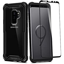 Spigen Hybrid 360 Galaxy S9 Plus Case with 360 Full Body Coverage Protection with Glass Screen Protector for Samsung Galaxy S9N Plus (2018) - Black