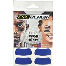 Blue Football Baseball Softball Eye Black Strips, 2 Pairs