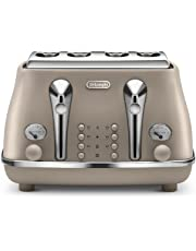 DeLonghi Icona Elements, 4 Slice Toaster, CTOE4003BG, Desert Beige
