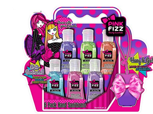 Pink Fizz Hand Sanitizer with Silicone Case - 6 Pack