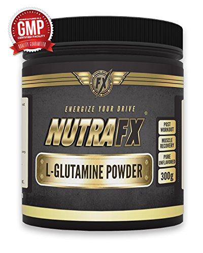 Nutrafx L-Glutamine Poudre Sports Nutrition Pre Workout - 300g