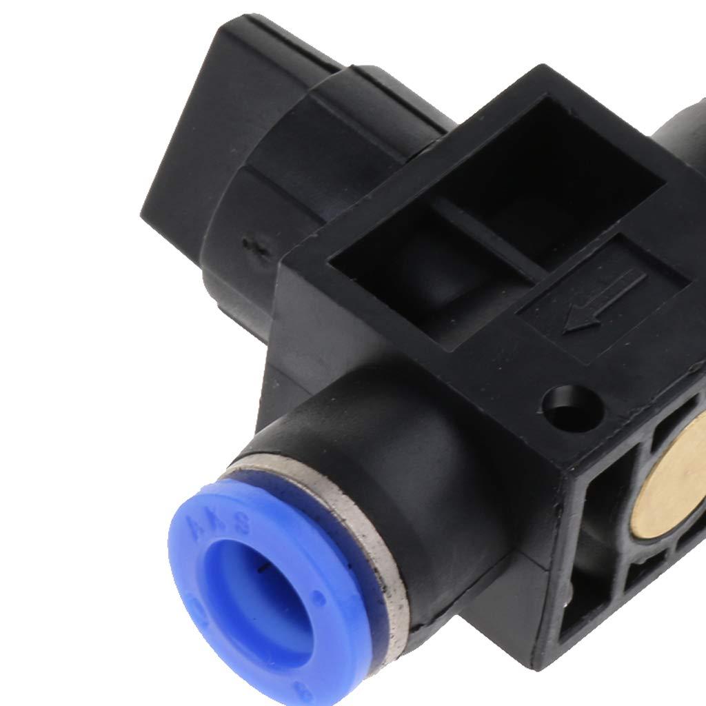 Tama/ño de montaje de 8 mm Negro B Blesiya Conector de Neum/ático Tubo de Manguera Aire Agua Accesorios de Laboratorios Producto Comercial