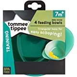 Tommee Tippee Easy Scoop Feeding Bowls 7m+ (Colours May Vary), 4 Bowls