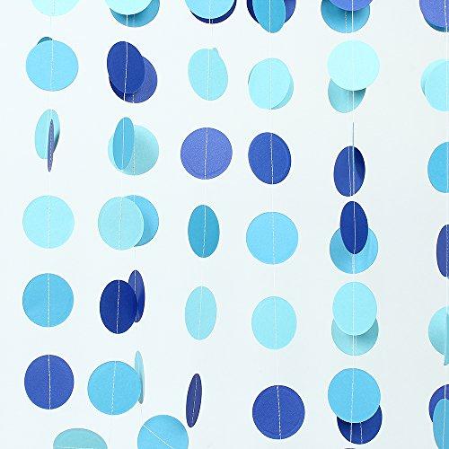 Circle-paper-garlandZOOYOO-Circle-dots-paper-garland-hanging-decoration-glitter-garlandsbaby-showerweddingparty-Supplies2pc-2high98-feetLight-blue-Deep-blue-Sky-blue