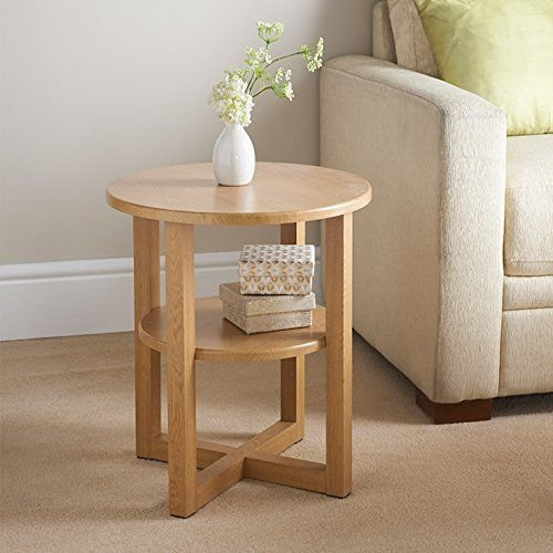 Rjkart Pine Wood Bed Side End Table For Living Room Side Table For Home Round Design Natural Finish Buy Online In Antigua And Barbuda At Antigua Desertcart Com Productid 88543845