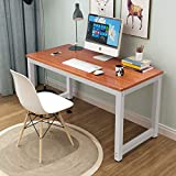 Toolsempire 47'' Office Computer Desk PC Laptop Dining Table Study Writing Desk Workstation for Home Office Furniture (Dark Brown)