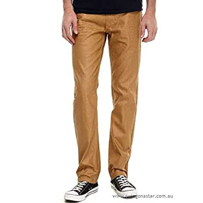 akademiks men's straight fit jeans wheat size:36/34: Clothing