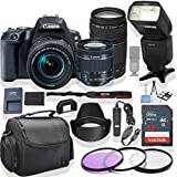 Canon EOS Rebel SL2 DSLR Camera 18-55mm & 75-300mm Lens (Black) Kit + Speed Light Multi Mode Flash + Gadget Bag +3 Piece Filter Kit + Premium Accessory Bundle