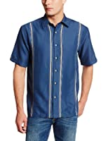 Cubavera Men's Essential Short-Sleeve Shirt with Contrast Inset Panels