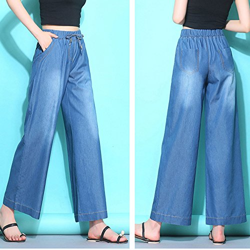 Vita Con Moda Invecchiato Nuova Blue2 In Da Alta Donna Strappati Jeans Sbiadito Stile Comodi Effetto A qA86Y