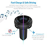 Criacr Bluetooth FM Transmitter, Car Charger with Smart Locator, 5V 2.1A USB Charging Port, Wireless In-Car Radio Adapter Car Kit, MP3 Player, Hands-free Call for iPhone, Samsung, Smartphone