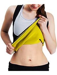 Women's Body Shaper Hot Sweat Workout Tank Top Slimming Vest Tummy Fat Burner Neoprene Shapewear for Weight Loss...