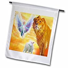 "3dRose fl_13685_2 ""The Lamb of God"" Garden Flag, 18 x 27"""