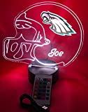 Philadelphia Eagles NFL Light Up Lamp LED Personalized Football Helmet Light Up Lamp LED Table Lamp, Our Newest Feature - It's WOW, With Remote, 16 Color Options, Dimmer, Free Engraved, Great Gift