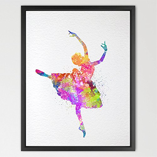 Studio Ballerina - Dignovel Studios 8X10 Ballerina Watercolor Art Print Pinky Art Wall Art Wall Hanging Home Decor Nursery Kids Art Fine Art Print Motivational art Wedding Gift N268