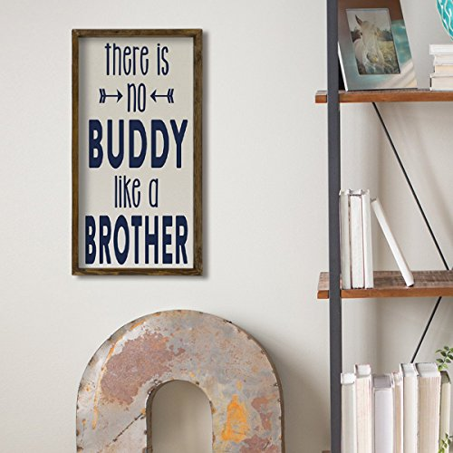 LaModaHome Words Home Decor, 100% Pine Wood Frame - There is