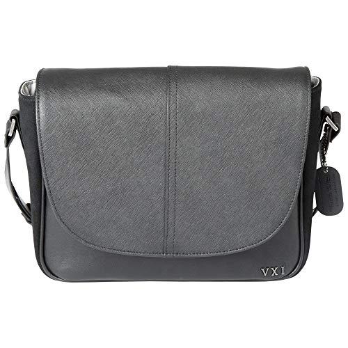 5.11 Bolso bandolera Charlotte táctico para mujer, exterior de cuero y ante, cremalleras YKK, negro, estilo 56343