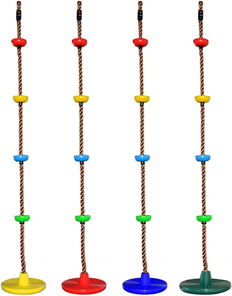 Colore Casuale 150 kg Lixada 1 Pezzo Set di Corda per Altalena da Arrampicata per Bambini 200cm con Disco Scala di Corda Durevole per Esterno Albero Giardino Dietro la Casa Peso Massimo