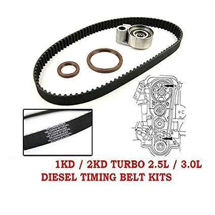 Amazon com: Timing Belt Kit OEM For Toyota Hillux Prado Hiace Diesel