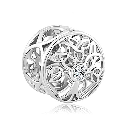CharmsStory Birthstone Celtic Charm Bracelet