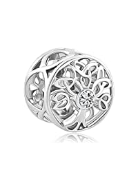 Cory Keyes Celtic Knot Charms Filigree Family Tree of Life Charm Beads for Bracelets