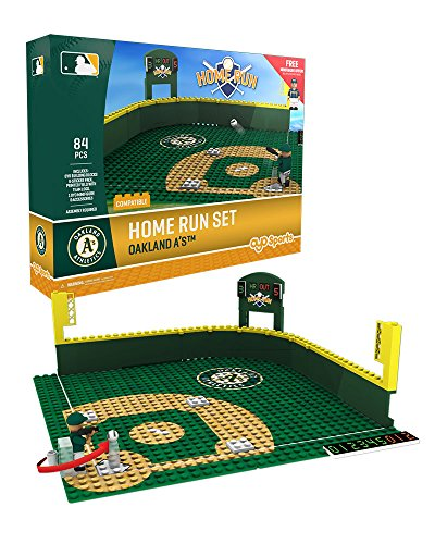 Oyo Sportstoys MLB Oakland Athletics Baseball Home Run Derby Playset Minifigure, Small, White ()