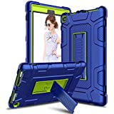 Venoro Case for All-New Amazon Fire HD 8 Tablet, Kindle Fire 8 Case Cover with Kickstand Compatible with Fire HD 8 Tablet (7th 8th Generation, 2017 2018 Release) (Blue/Yellow)