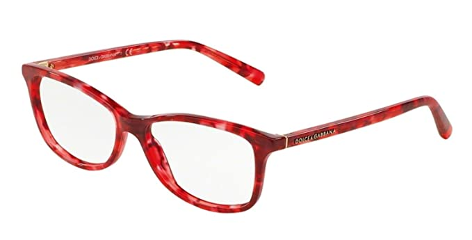 5a399d965785 Amazon.com: Dolce & Gabbana Women's DG3222 Eyeglasses Red Marble ...