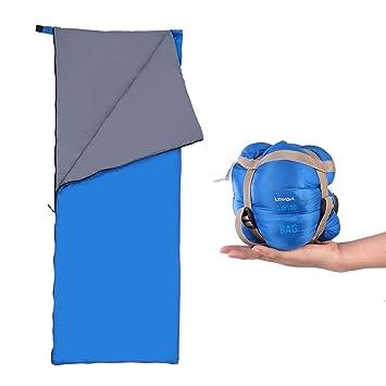 73038c6a6 Lixada Saco de Dormir Ultra Ligero Multifuncional 190 * 75cm 680g de Forma  de sobre para Acampada Senderismo al Aire Libre: Amazon.es: Deportes y aire  libre