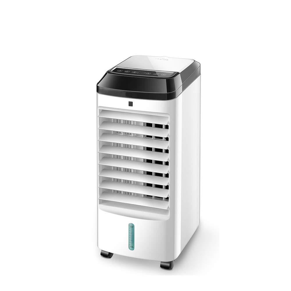 LPD-冷風機 ポータブル蒸発エアコンタワーコールドエアクーラーファンモバイルエアコンリモコンタイミングダブル水槽精製 (Color : White1) B07TVJ268Z White1