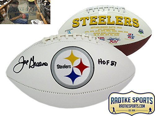 Joe Greene Autographed/Signed Pittsburgh Steelers NFL Logo Football with