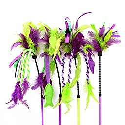 OurPets Feather Teaser Play Wand Cat Toy