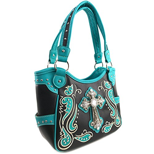 Carry Studs Crossbody Concealed Wallet Blue Handbag Handbag West Cross Justin Shoulder Purse Tote Eaq4II