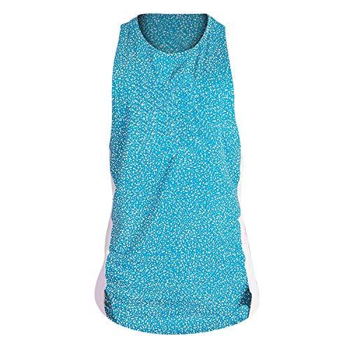 (Men Tank Tops Printed Vest Sports Fitness Vest Bodybuilding Undershirt,Light Blue,XXL,United States)