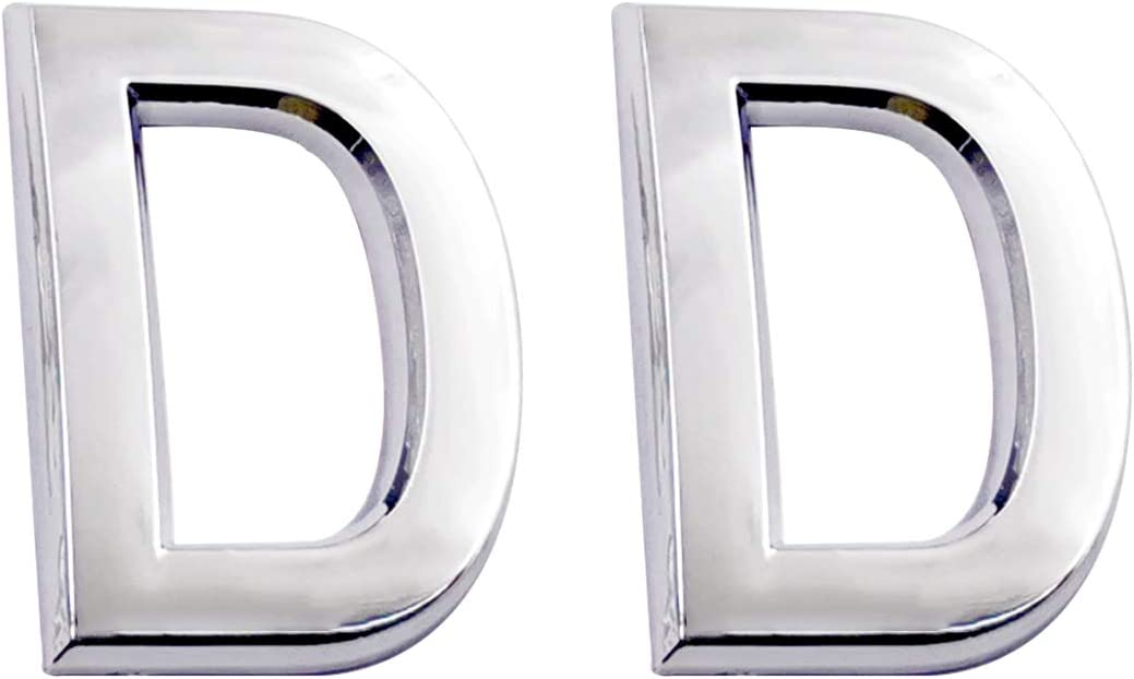 2.75 Inch Adhesive House Numbers, Mailbox Numbers, Street Door Numbers, Self-Stick Address Signs for Apartments, Double Silver Letter D
