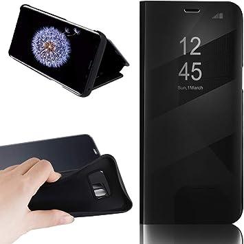 Boshanda Funda Samsung S8 Case Clear View Standing Cover, Flip ...