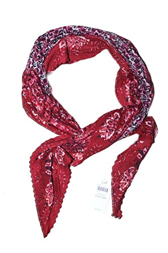 J. Jill - Women's - Bandana Floral Crinkle Neck Scarf (Red) from J Jill